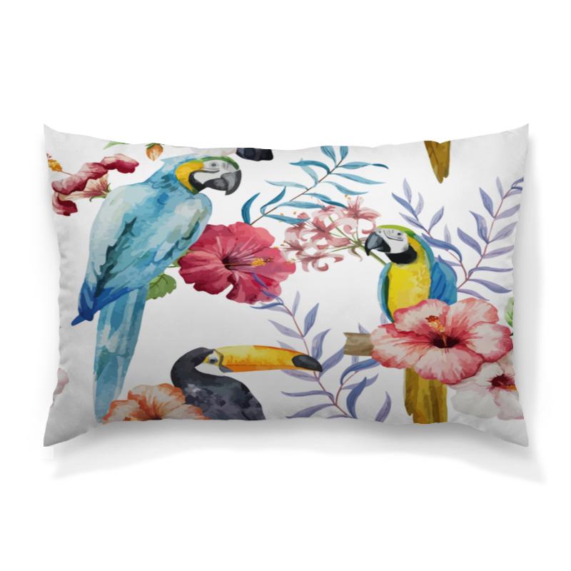 Printio Птицы подушка 60х40 с полной запечаткой printio птицы
