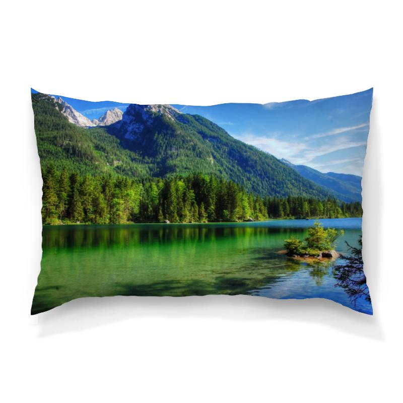 Подушка 60х40 с полной запечаткой Printio Горное озеро поло print bar горное озеро