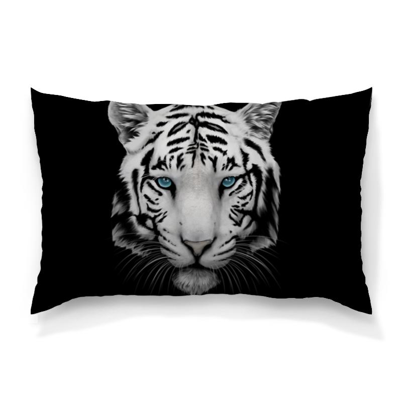 Подушка 60х40 с полной запечаткой Printio Белый тигр цена и фото