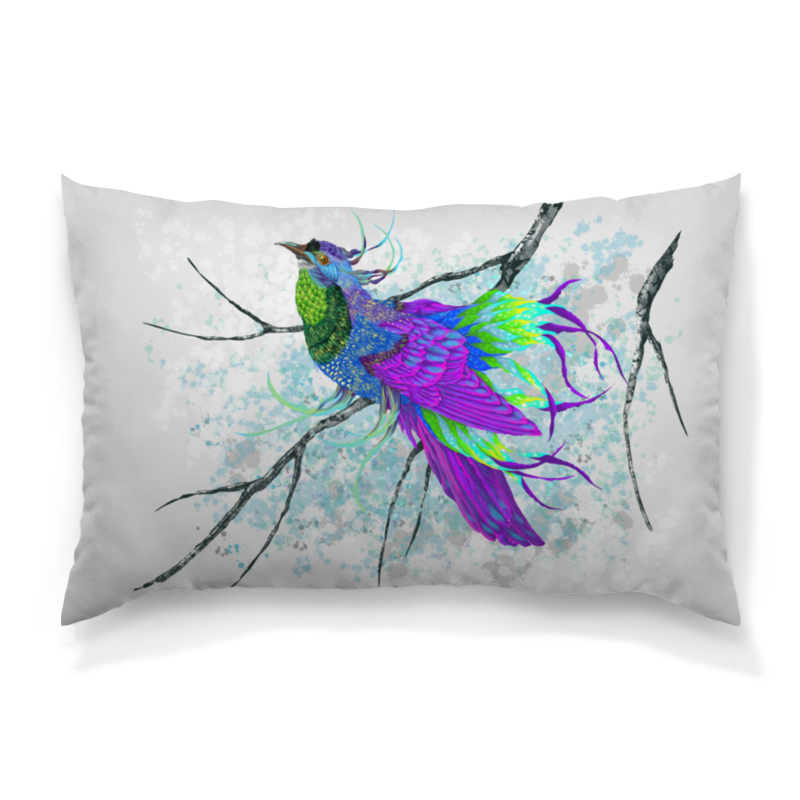 Printio Сиреневая птица подушка 60х40 с полной запечаткой printio птицы