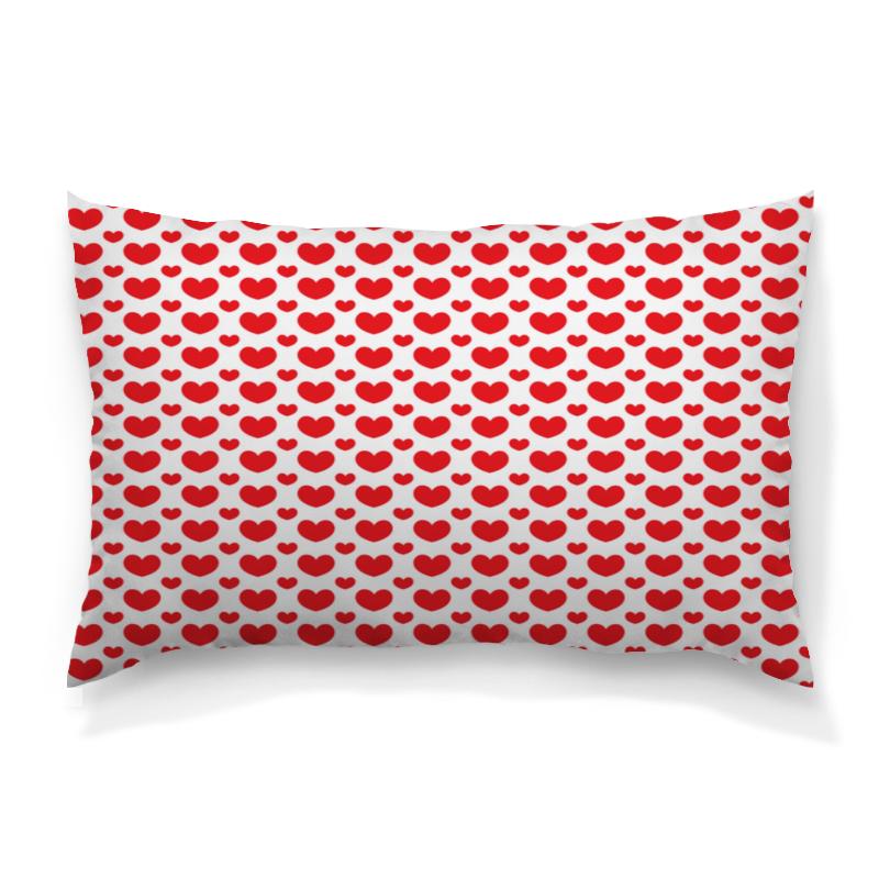 Фото - Printio Красные сердечки подушка 60х40 с полной запечаткой printio сердечки