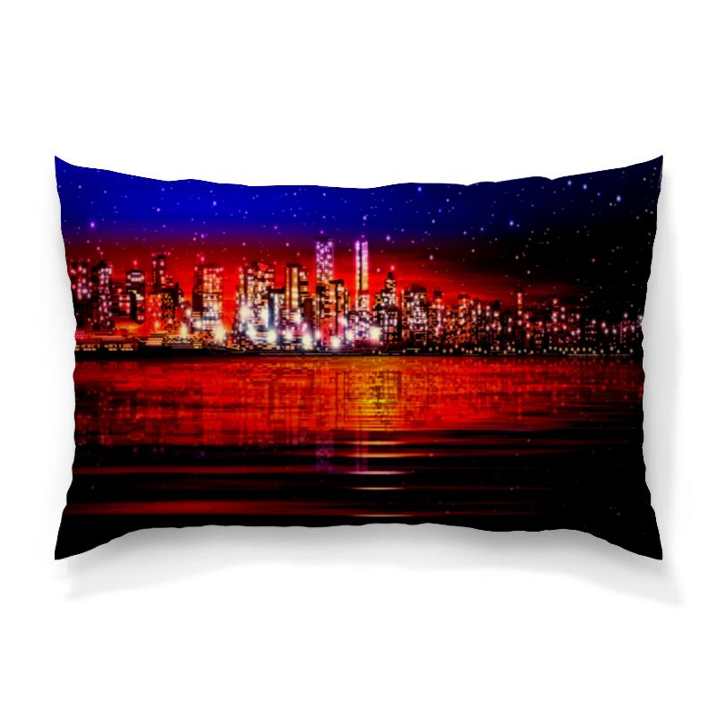 Подушка 60х40 с полной запечаткой Printio Ночной город подушка 60х40 с полной запечаткой printio город на берегу