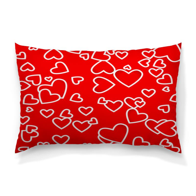 Подушка 60х40 с полной запечаткой Printio Сердце
