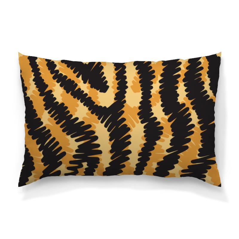 Подушка 60х40 с полной запечаткой Printio Тигровый тигровый орех купить в москве