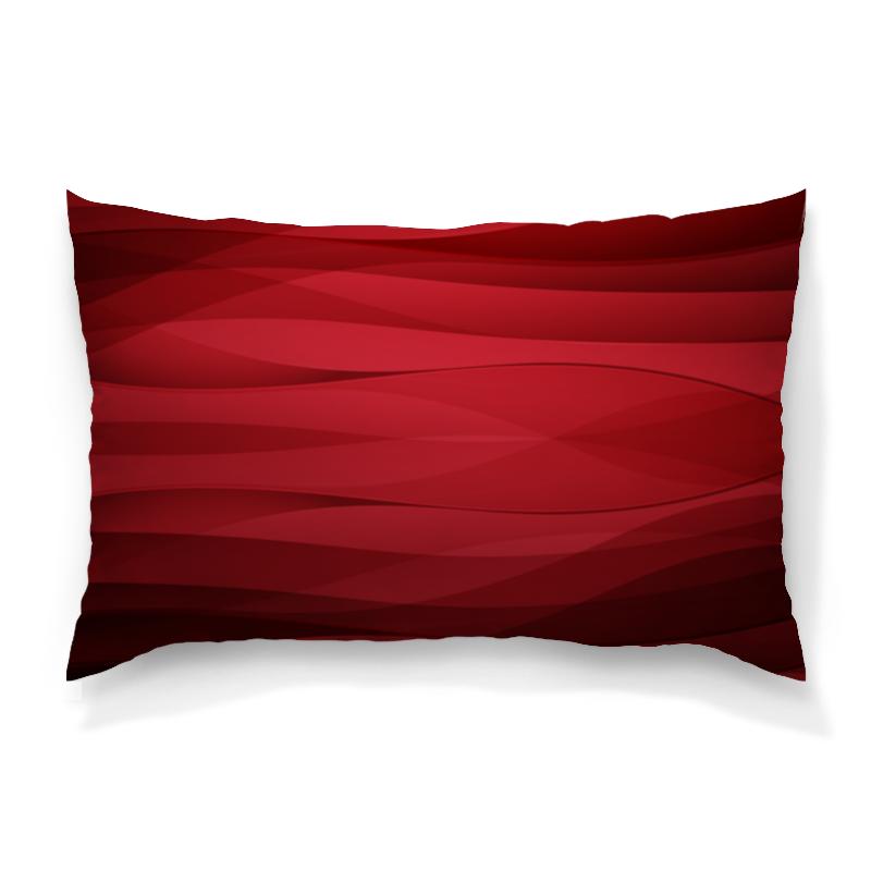 Подушка 60х40 с полной запечаткой Printio Красная абстракция