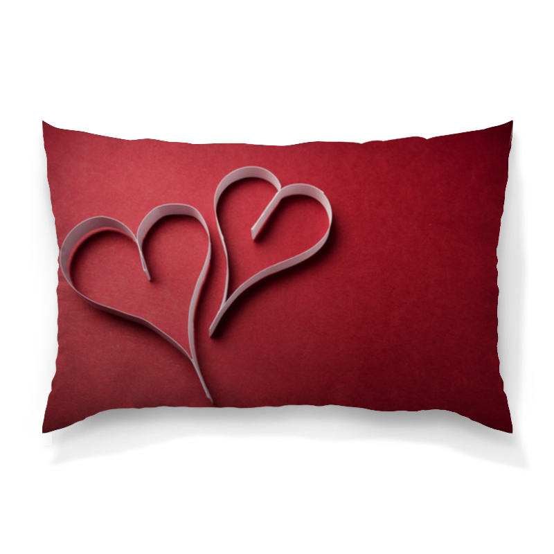 Подушка 60х40 с полной запечаткой Printio Сердца худи print bar сердца любви