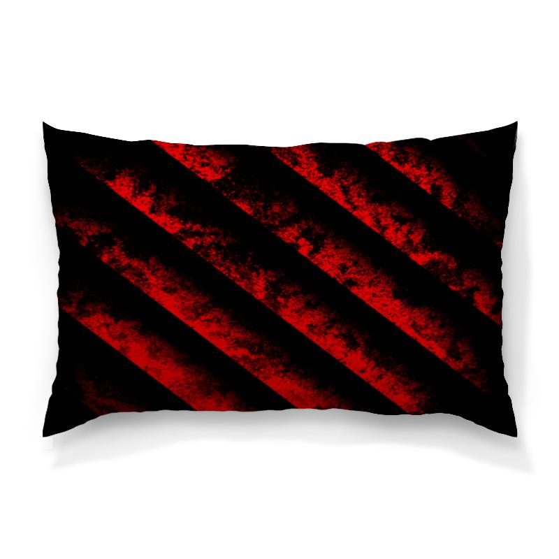 Подушка 60х40 с полной запечаткой Printio Черно-красные полосы подушка 60х40 с полной запечаткой printio черно белые краски