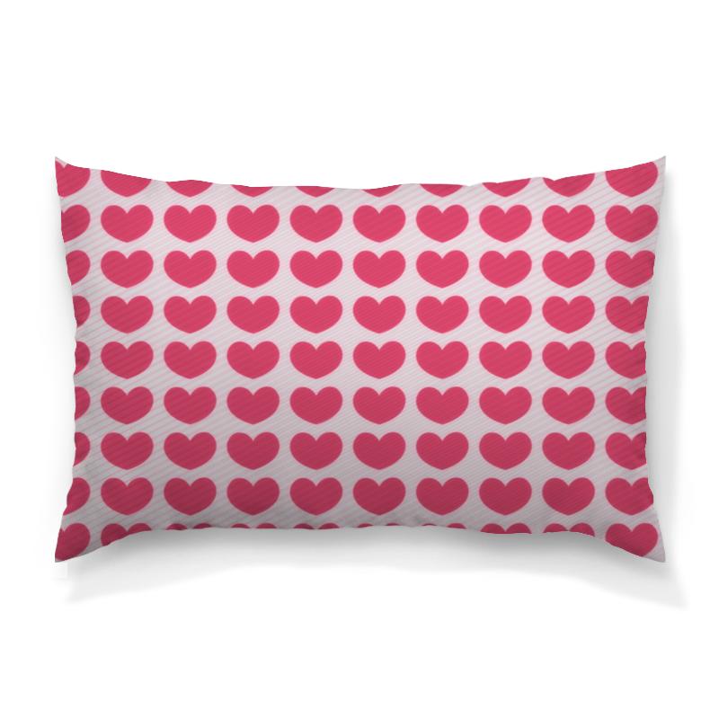 Подушка 60х40 с полной запечаткой Printio Розовое сердце борцовка с полной запечаткой printio розовое сердце