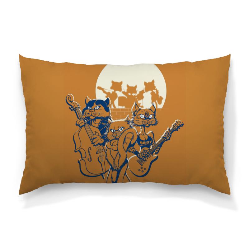 Подушка 60х40 с полной запечаткой Printio Кошачий концерт футболка с полной запечаткой женская printio кошачий концерт