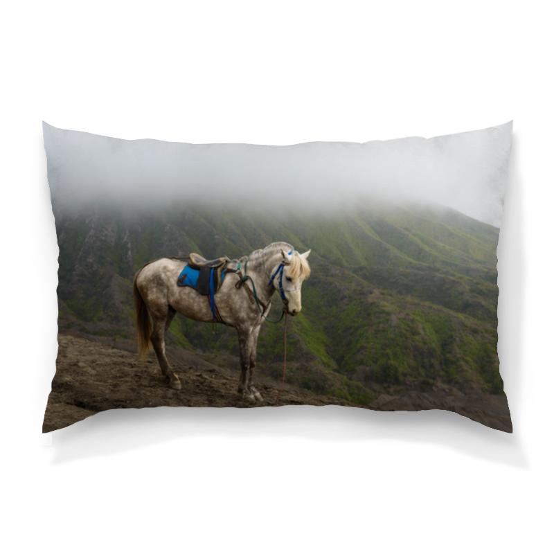 Подушка 60х40 с полной запечаткой Printio Лошадь рюкзак с полной запечаткой printio девушка и лошадь