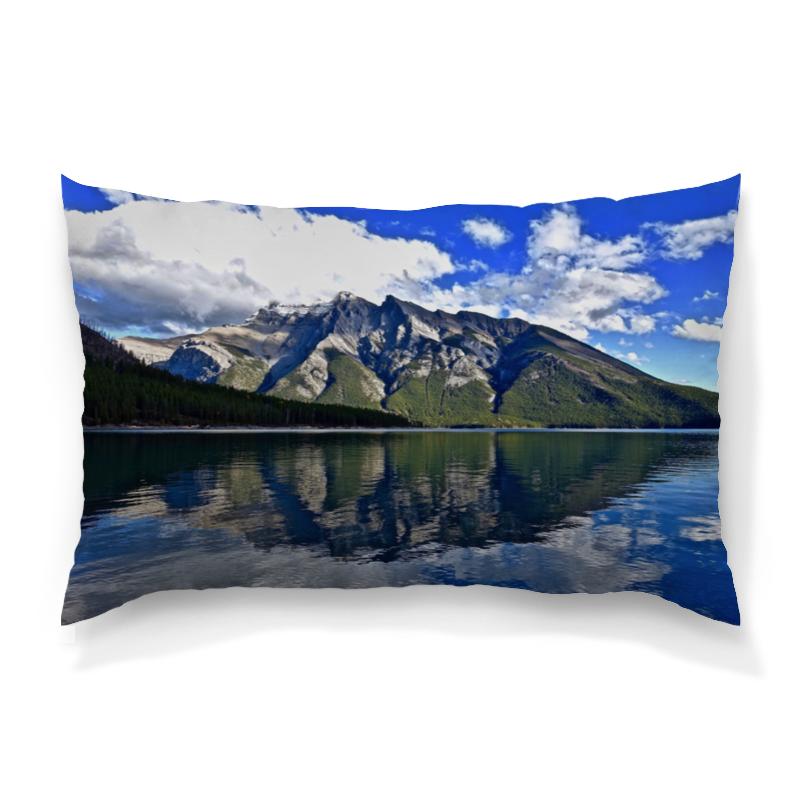 Подушка 60х40 с полной запечаткой Printio Горы у берега никита павлов картина у берега