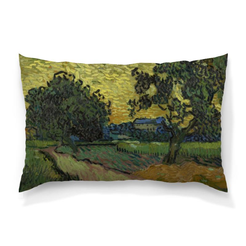 Подушка 60х40 с полной запечаткой Printio Пейзаж в сумерках (ван гог) рюкзак мешок с полной запечаткой printio персиковое дерево в цвету ван гог