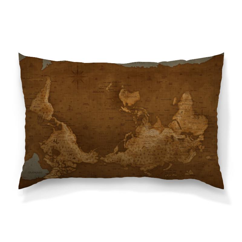Printio Карта мира подушка 60х40 с полной запечаткой printio в стиле майя