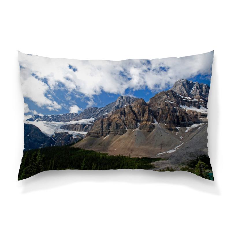Printio Лес и горы подушка 60х40 с полной запечаткой printio лес и горы