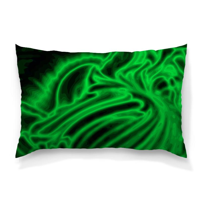 Подушка 60х40 с полной запечаткой Printio Яркий зеленый цена 2017