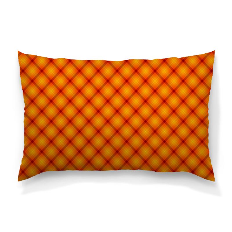Подушка 60х40 с полной запечаткой Printio Клетка оранжевая подушка 60х40 с полной запечаткой printio чёрно белая клетка