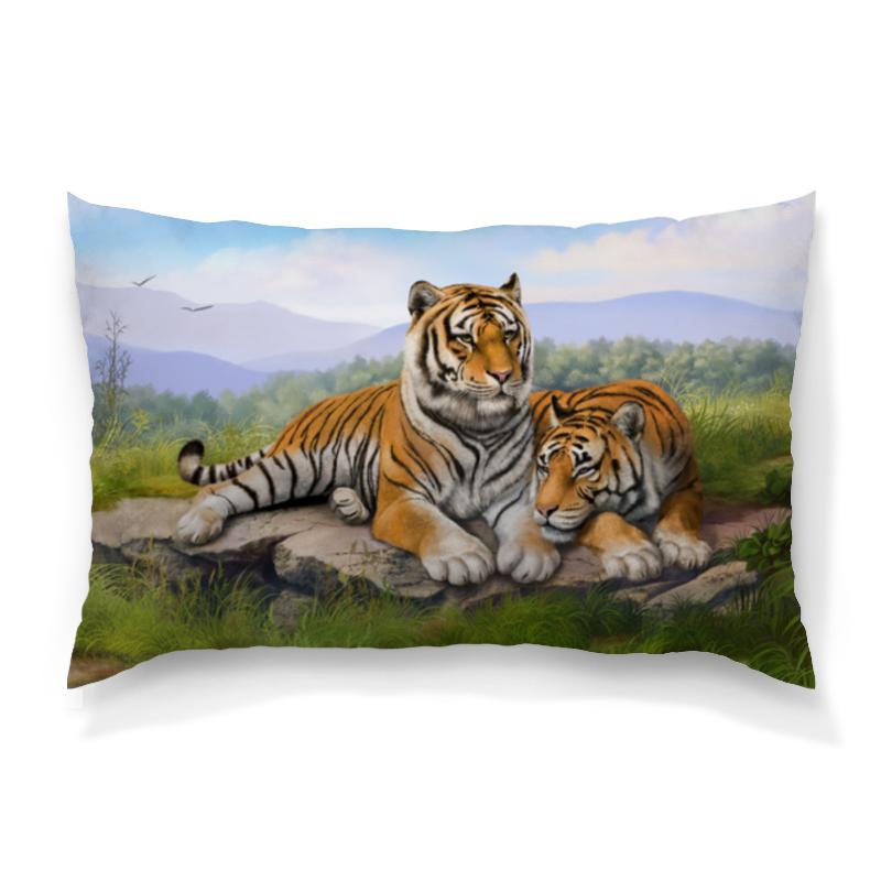 Подушка 60х40 с полной запечаткой Printio Тигры подушка printio тигры