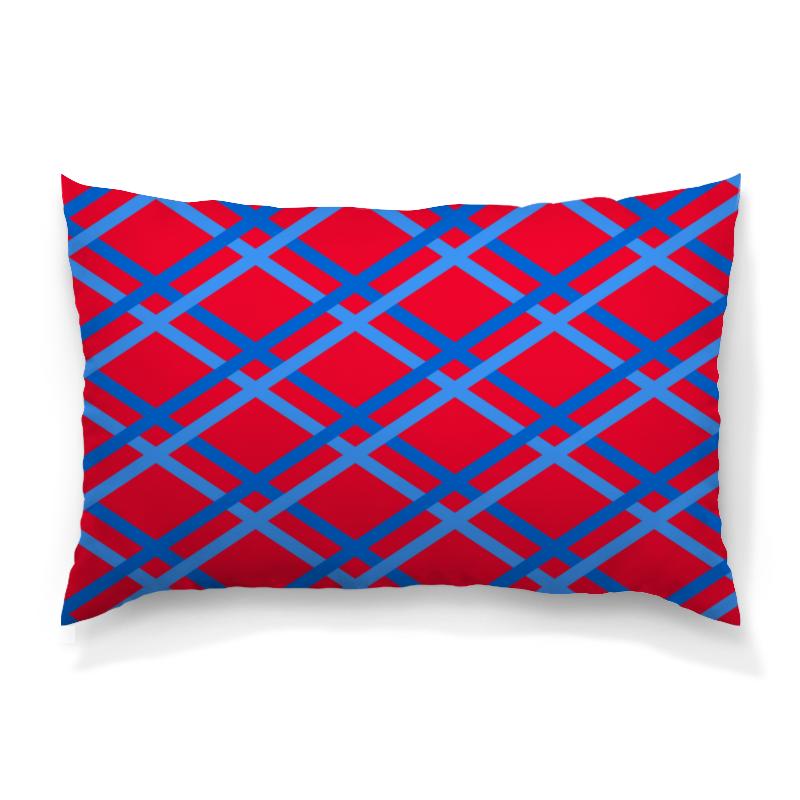 Подушка 60х40 с полной запечаткой Printio Сине-голубые линии футболка с полной запечаткой женская printio сине голубые линии