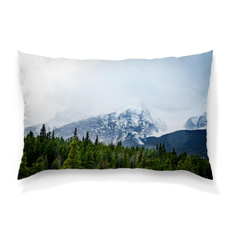Printio Снежные горы подушка 60х40 с полной запечаткой printio лес и горы