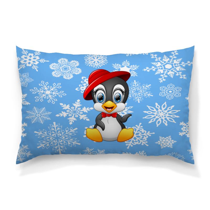 Printio Пингвин в шляпе подушка 40х40 с полной запечаткой printio пингвин в шляпе