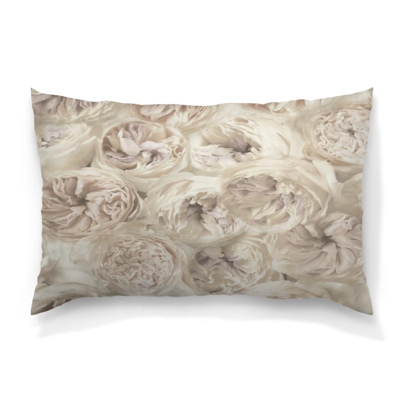 Подушка 60х40 с полной запечаткой Printio Белые цветы скребок для аквариума хаген складной