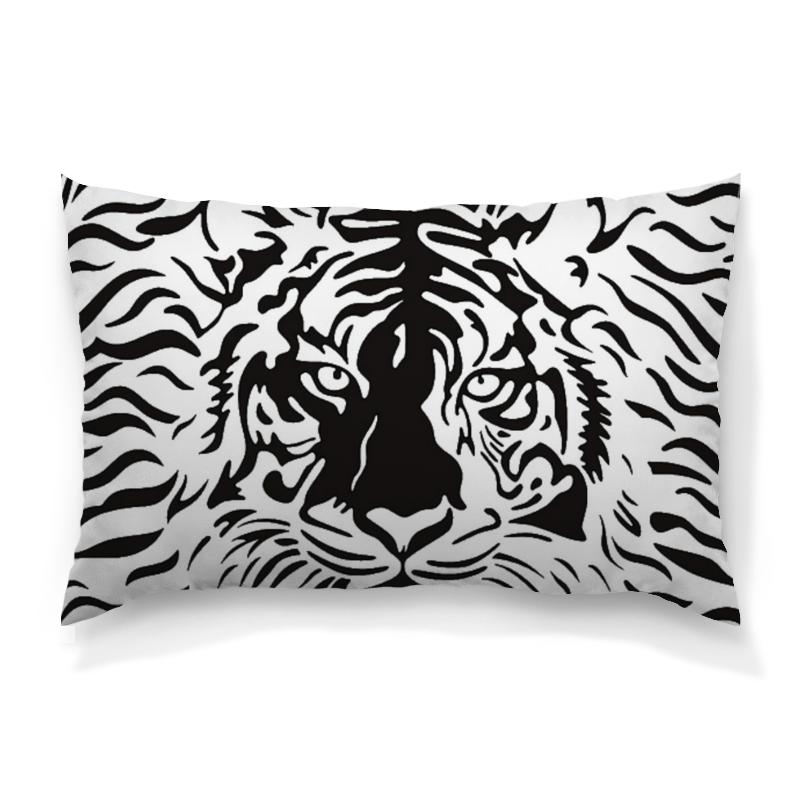 Подушка 60х40 с полной запечаткой Printio Взгляд тигра хоук к в поисках тигра