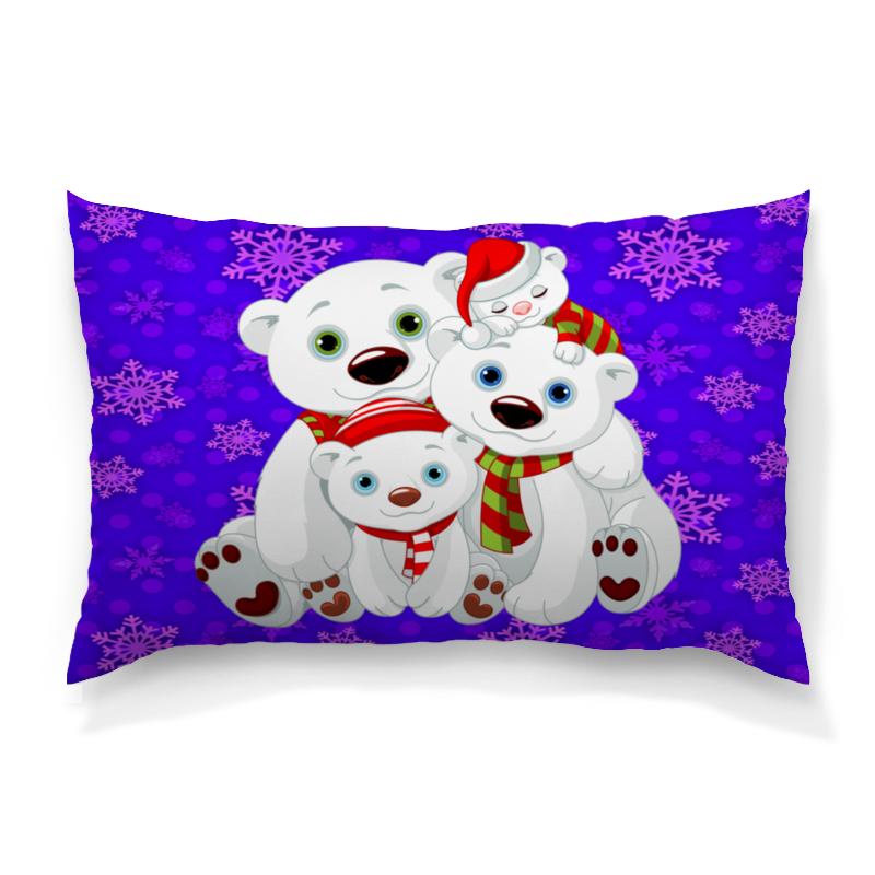 Подушка 60х40 с полной запечаткой Printio Белые медведи толстовка с полной запечаткой printio медведи