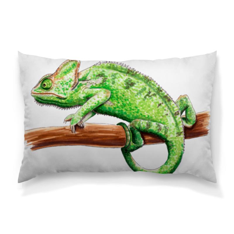 Фото - Printio Зеленый хамелеон на ветке подушка printio свидание на ветке