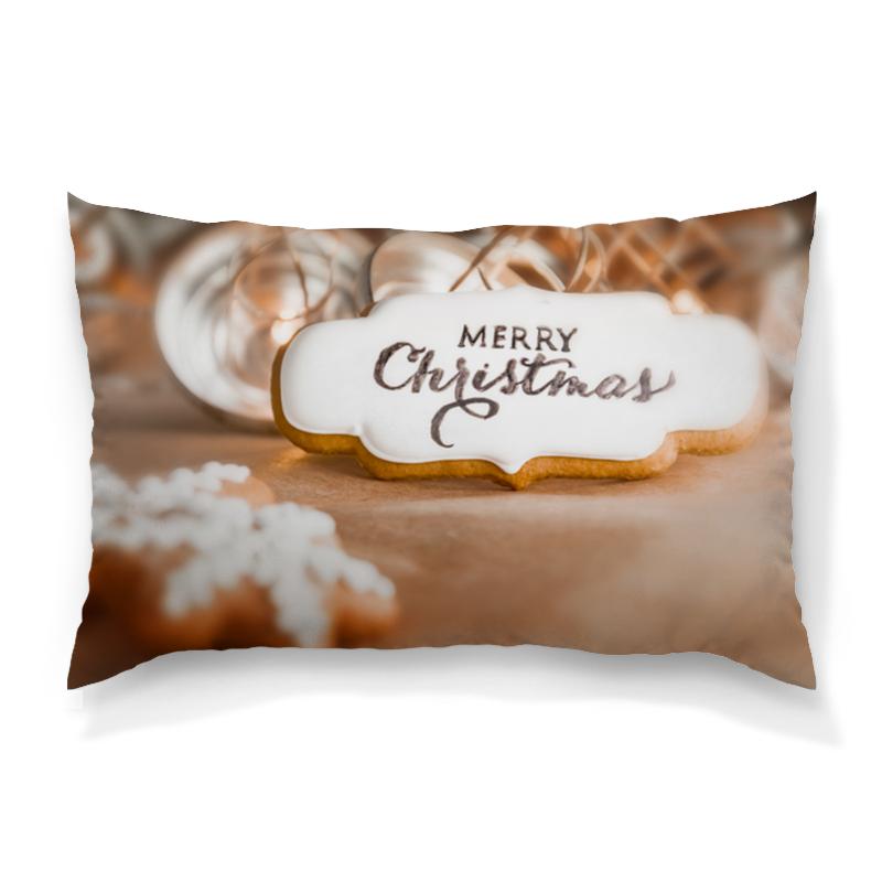 Подушка 60х40 с полной запечаткой Printio Merry christmas, с рождеством футболка с полной запечаткой женская printio с рождеством