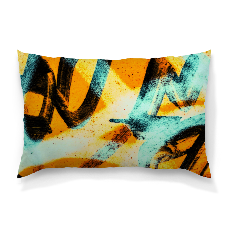 Подушка 60х40 с полной запечаткой Printio Граффити красками подушка 60х40 с полной запечаткой printio тигр красками