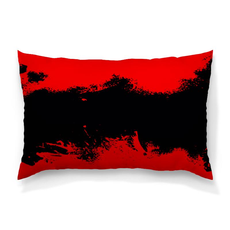 Подушка 60х40 с полной запечаткой Printio Черно-красные краски цена