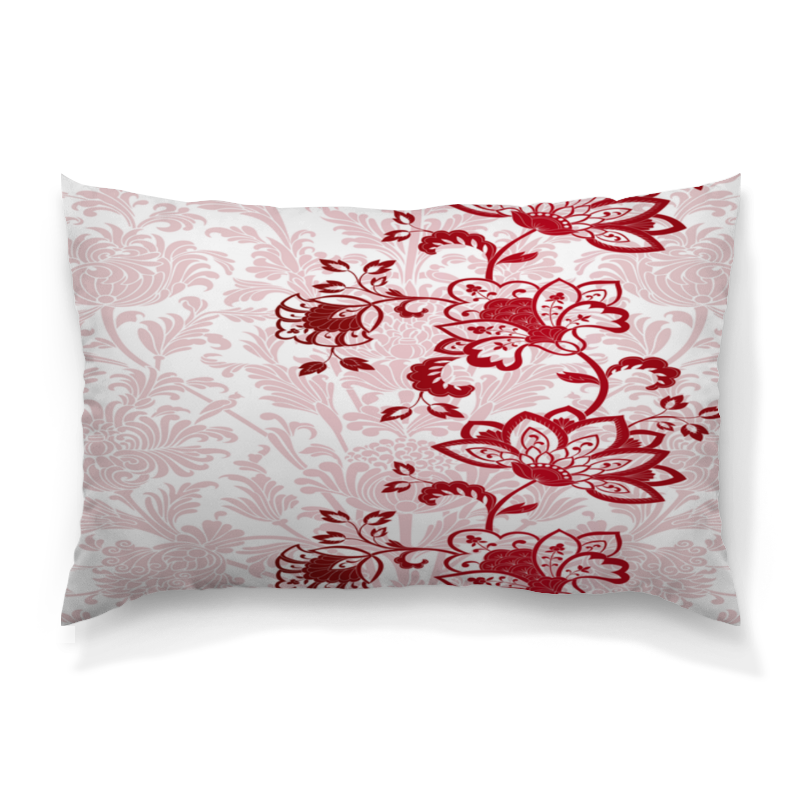 Printio Красные цветочки подушка 60х40 с полной запечаткой printio цветочки