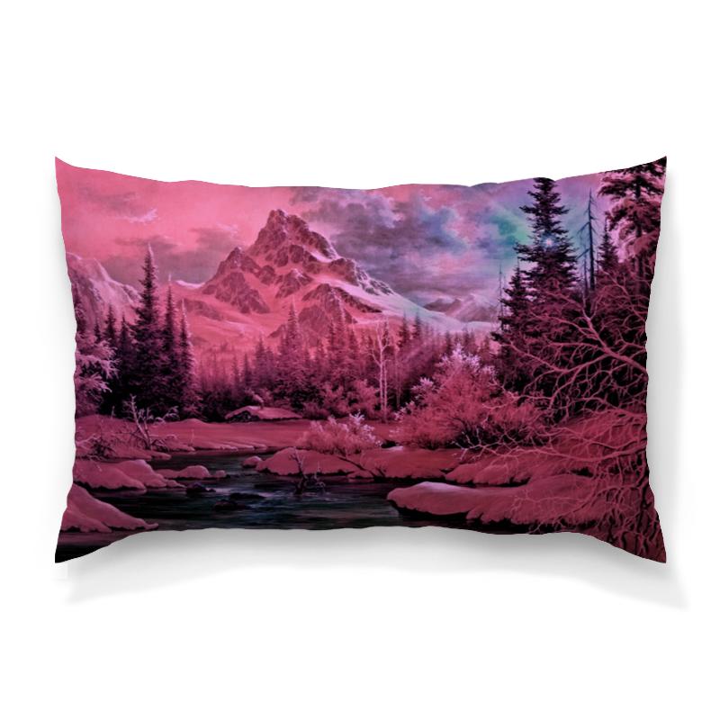 Подушка 60х40 с полной запечаткой Printio Розовый пейзаж подушка 60х40 с полной запечаткой printio зимний пейзаж
