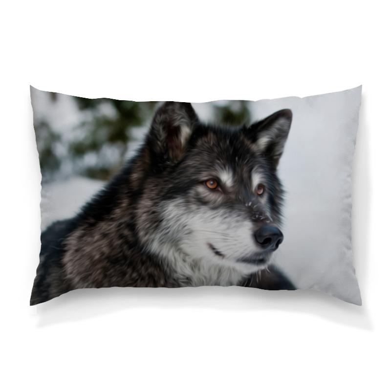Подушка 60х40 с полной запечаткой Printio Серый волк футболка с полной запечаткой мужская printio красная шапочка и серый волк