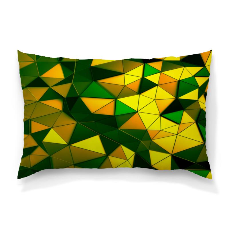 Подушка 60х40 с полной запечаткой Printio Желто-зеленые стекла цена