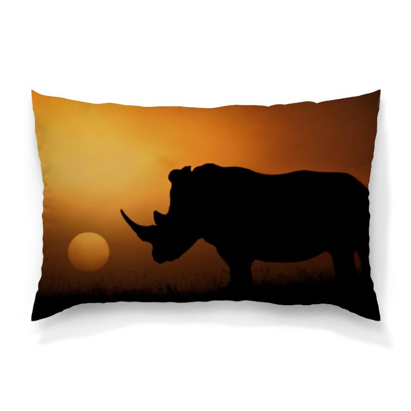 Printio Носорог подушка 60х40 с полной запечаткой printio носорог