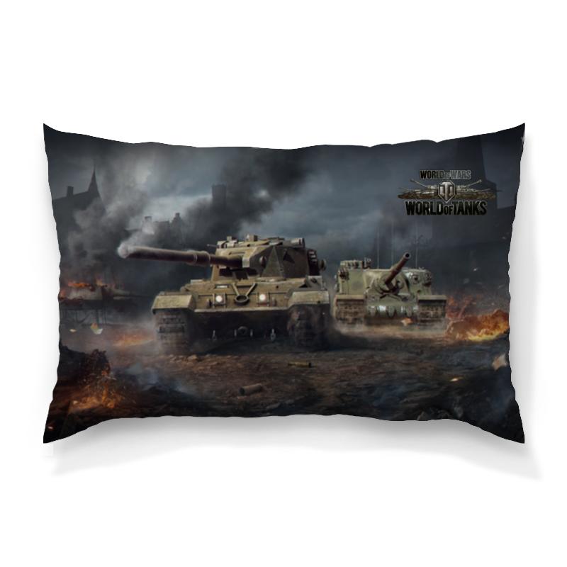 Подушка 60х40 с полной запечаткой Printio World of tanks
