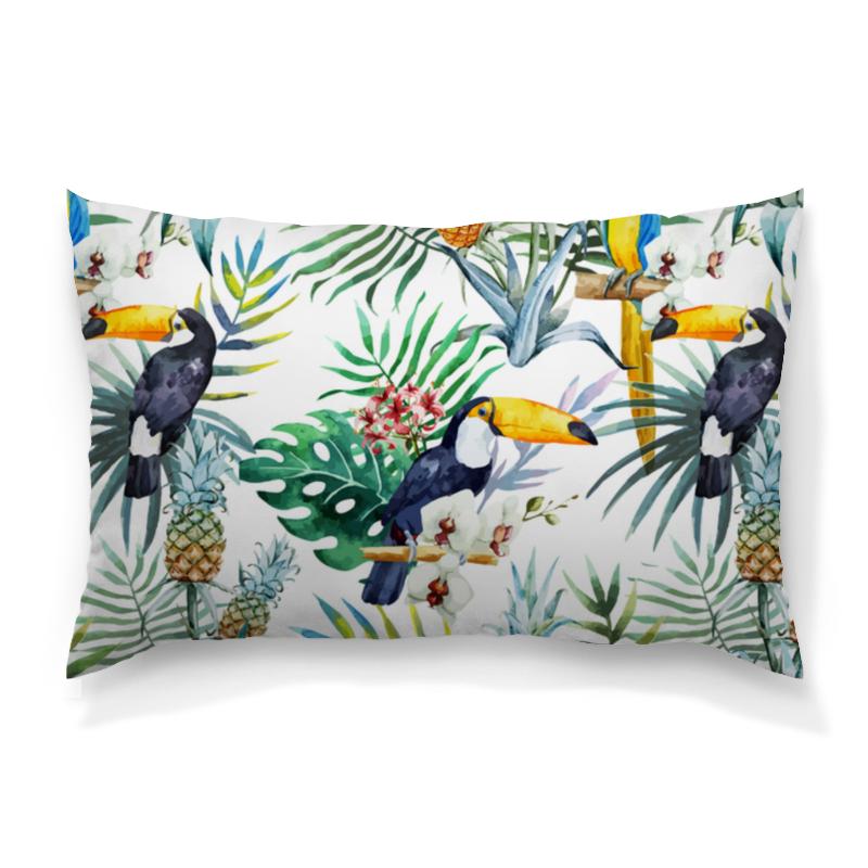 Подушка 60х40 с полной запечаткой Printio Тропические птицы