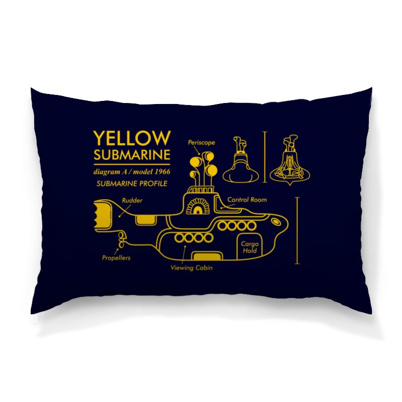 Подушка 60х40 с полной запечаткой Printio Yellow submarine магнит the beatles yellow submarine