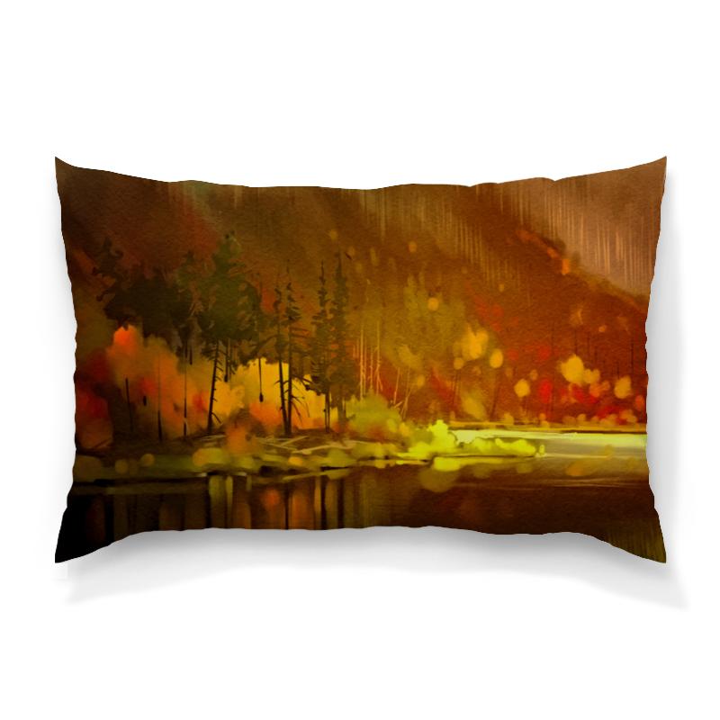 Подушка 60х40 с полной запечаткой Printio Осенний лес борцовка с полной запечаткой printio осенний лес