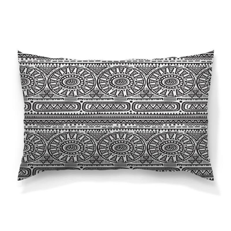 Подушка 60х40 с полной запечаткой Printio Черно-белый орнамент подушка 60х40 с полной запечаткой printio черно белые краски