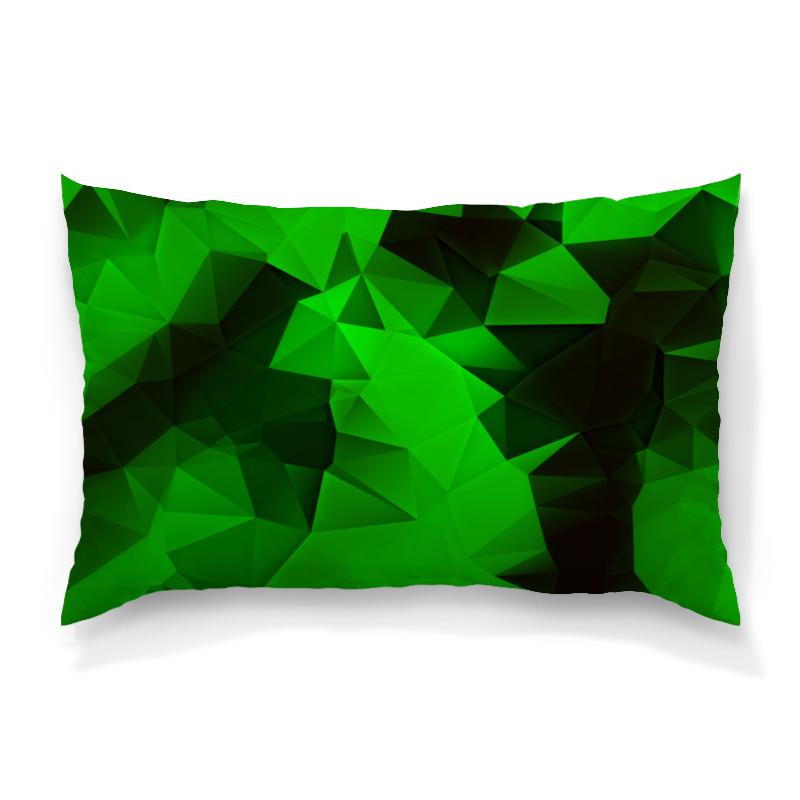 Подушка 60х40 с полной запечаткой Printio Зеленые стекла подушка 60х40 с полной запечаткой printio зеленые стекла