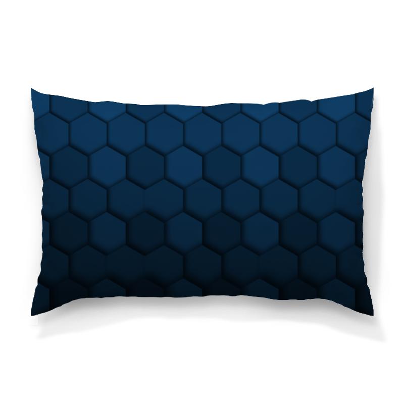 Подушка 60х40 с полной запечаткой Printio Синяя абстракция подушка 60х40 с полной запечаткой printio абстрактный узор