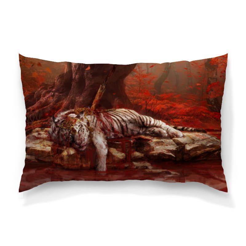 Подушка 60х40 с полной запечаткой Printio Белый тигр подушка 60х40 с полной запечаткой printio тигр красками