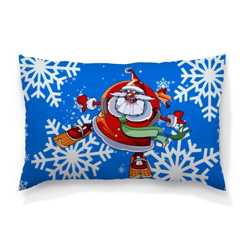 Подушка 60х40 с полной запечаткой Printio Санта клаус сумка с полной запечаткой printio санта клаус