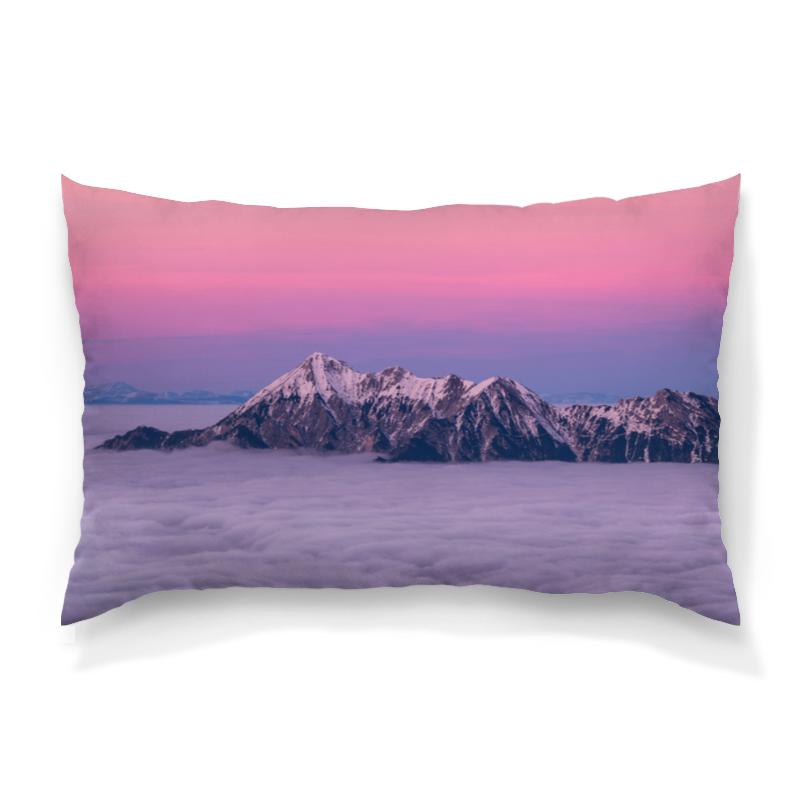 Printio Горы и облака подушка 60х40 с полной запечаткой printio лес и горы
