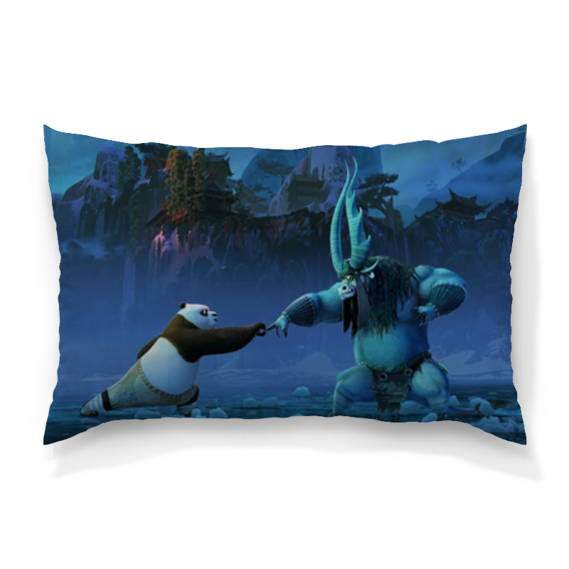 Подушка 60х40 с полной запечаткой Printio Кунг-фу панда кунг фу панда2 blu ray