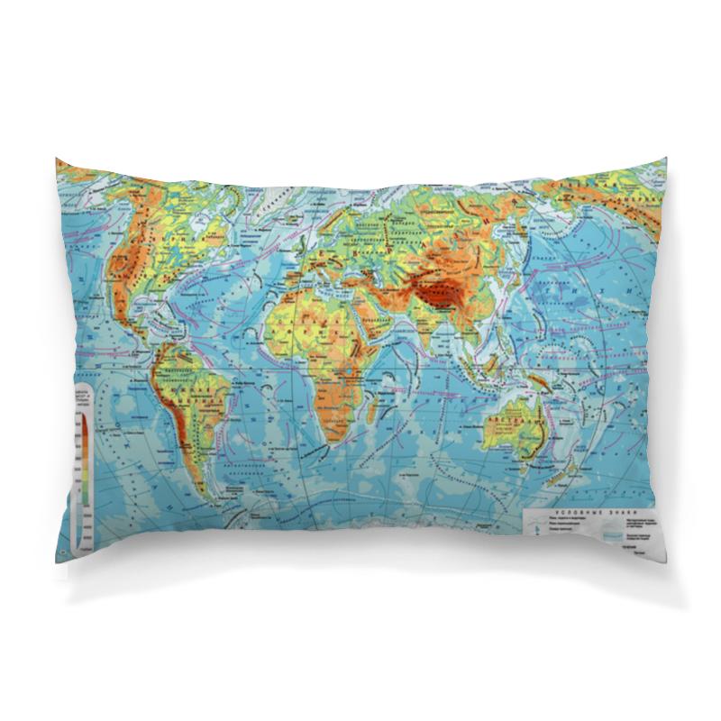 Подушка 60х40 с полной запечаткой Printio Карта мира футболка с полной запечаткой мужская printio карта мира вселенная