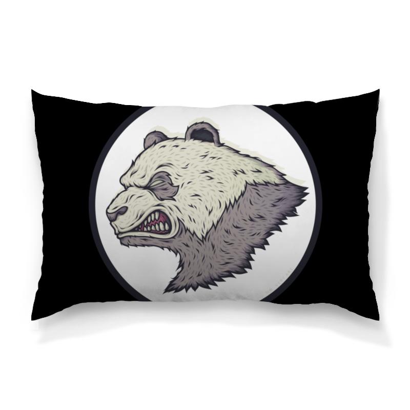 Подушка 60х40 с полной запечаткой Printio Angry panda / злая панда подушки для малыша candide подушка анатомическая панда brownish grey panda pillow 21x19 см