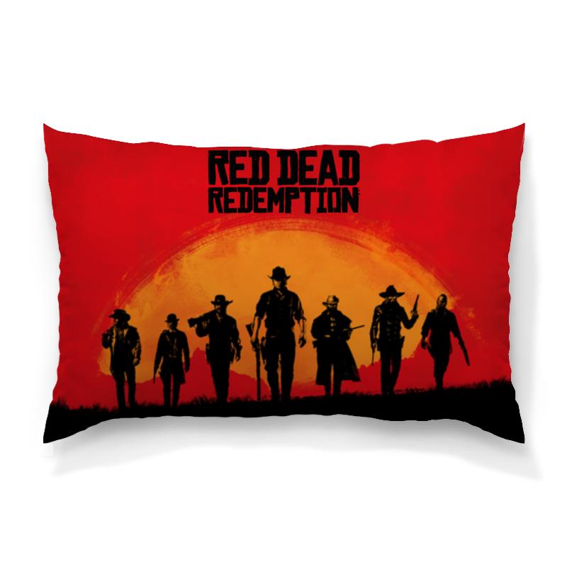 Подушка 60х40 с полной запечаткой Printio Red dead redemption game свитшот print bar red dead redemption simsons style